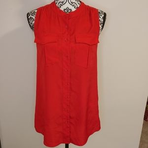 ❤ J Crew red sleevless top size 4